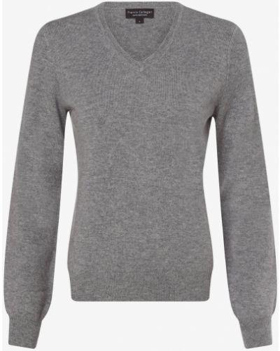 Szary z kaszmiru sweter Franco Callegari