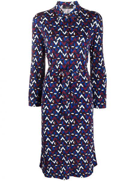 Черное классическое платье с воротником из вискозы Weekend Max Mara