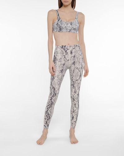 Szare legginsy z nylonu z printem Alo Yoga