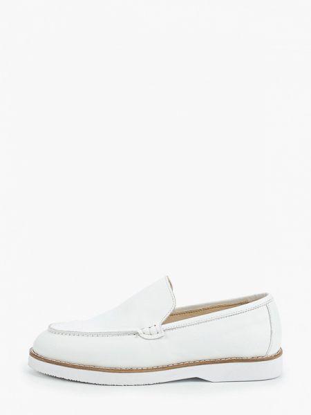 Белые кожаные туфли из натуральной кожи Marco Bonne