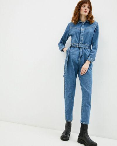 Синий джинсовый комбинезон Defacto