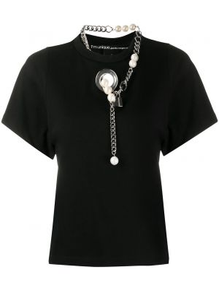 Koszula z krótkim rękawem ażurowy srebro Pinko