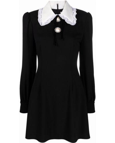 Платье макси с длинными рукавами - белое Alessandra Rich