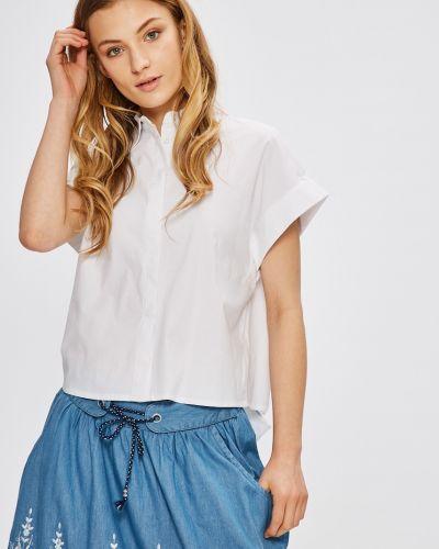 Блузка однотонная белая Miss Poem