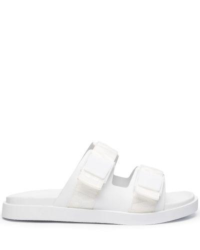 Białe sandały peep toe Emporio Armani