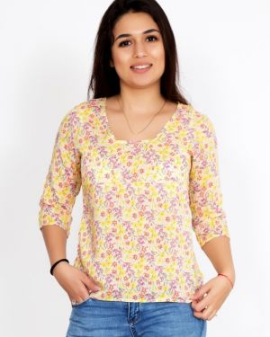Блузка из штапеля с цветочным принтом Lika Dress