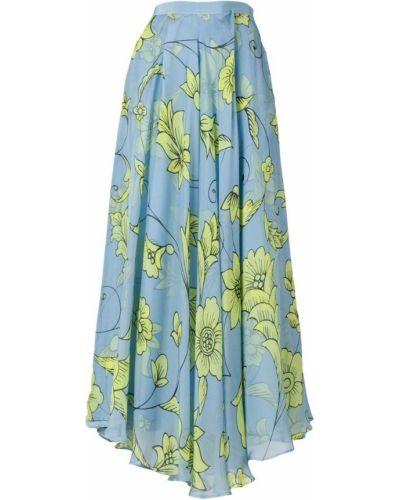 Плиссированная юбка - синяя Miahatami