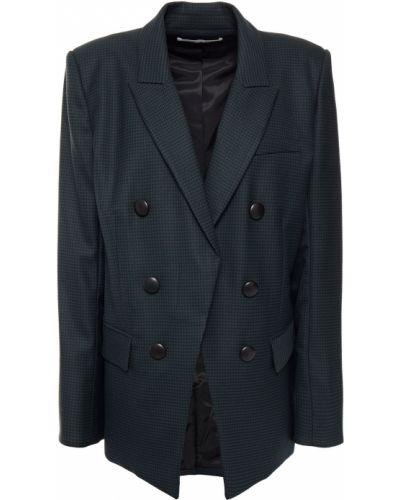 Зеленый пиджак двубортный с подкладкой Veronica Beard
