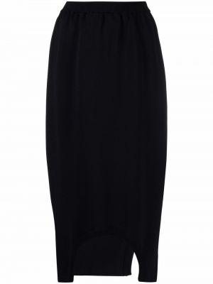 Spódnica asymetryczna - czarna Issey Miyake
