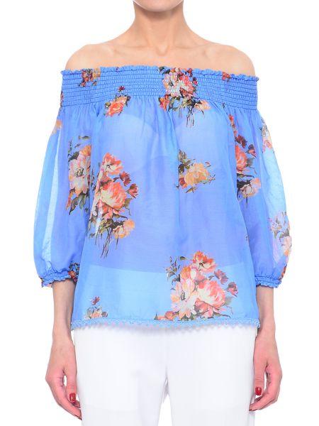Шелковая блузка - голубая Iblues
