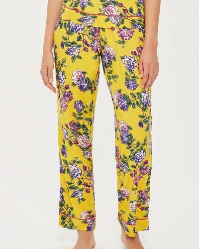Желтые брюки домашние Topshop