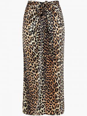 Сатиновая юбка миди Ganni