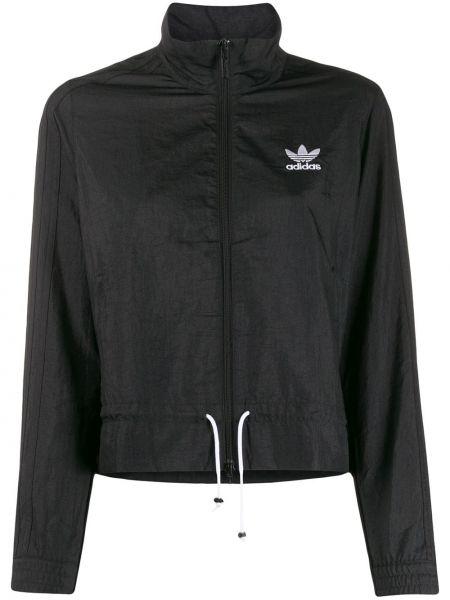 Спортивная куртка с вышивкой черная Adidas
