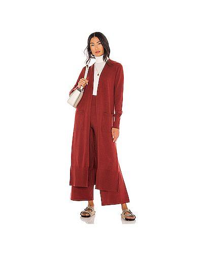 Нейлоновый открытый свитер с разрезом с карманами Susana Monaco