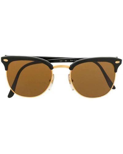 Прямые муслиновые черные солнцезащитные очки круглые Persol Pre-owned