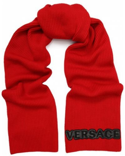 Красный шарф шерстяной Versace
