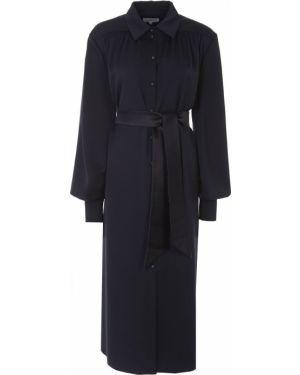 Черное платье миди на пуговицах с воротником с манжетами A La Russe