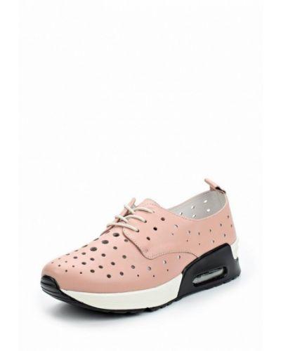 Розовые кожаные кроссовки La Grandezza