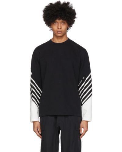 Czarny t-shirt z długimi rękawami bawełniany Minotaur