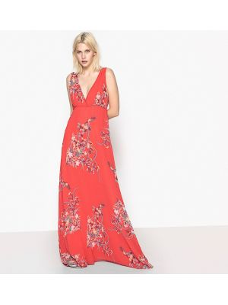 Платье миди мини с цветочным принтом с V-образным вырезом Pepe Jeans
