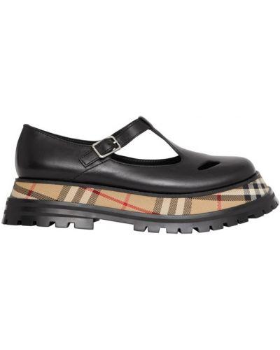 Черные кожаные туфли с подкладкой Burberry