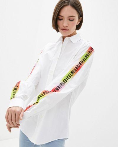 Белая рубашка с длинными рукавами Bikkembergs