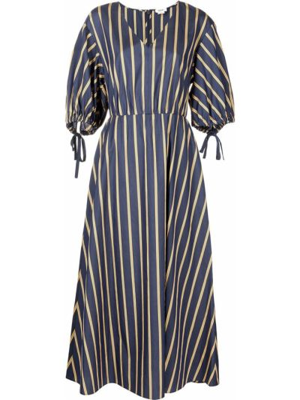 Шелковое платье мини - синее Jason Wu