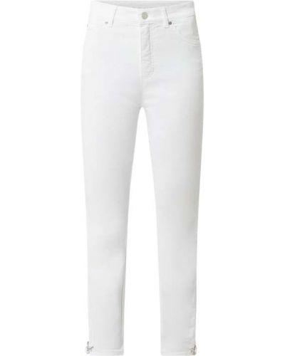 Białe jeansy z wysokim stanem bawełniane Rosner