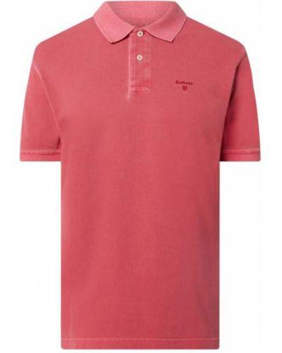 T-shirt bawełniana - różowa Barbour
