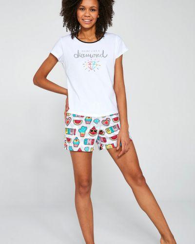 Пижамная пижама с короткими рукавами с декольте Cornette