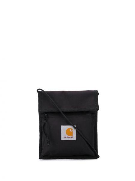 Мерцающая черная нейлоновая сумка через плечо с заплатками Carhartt Wip