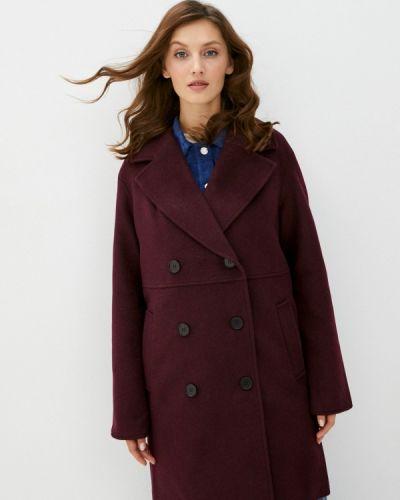 Красное пальто двубортное Trendyangel