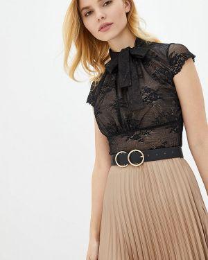 Боди блуза черное Genevie