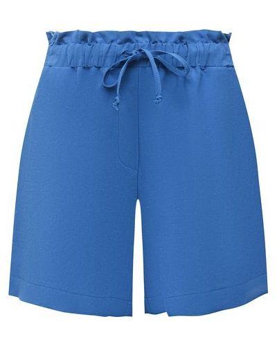 Синие шорты из вискозы Pietro Brunelli