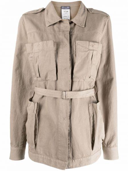 Хлопковая длинная куртка с накладными карманами с воротником Kristensen Du Nord