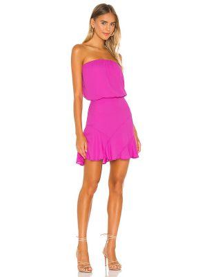 Розовое коктейльное платье с декольте с подкладкой Krisa