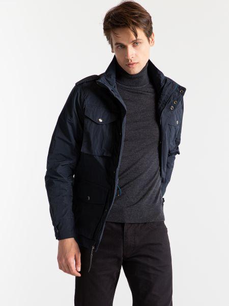 Синяя куртка на молнии с карманами Timberland