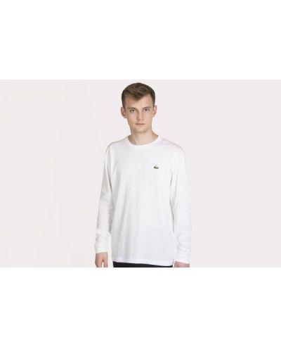 Biała koszulka bawełniana Lacoste