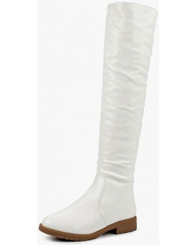 Белые ботфорты кожаные Vivian Royal