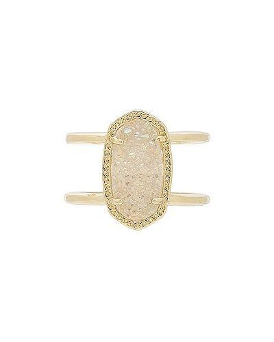 Złoty pierścionek pozłacany Kendra Scott