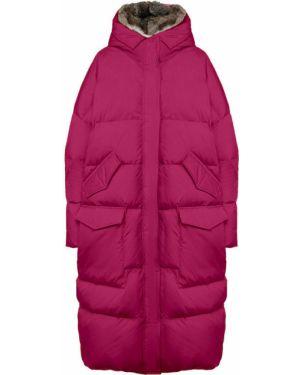 Куртка с капюшоном из кролика розовая Lempelius