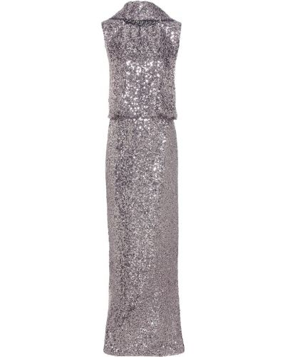 Вечернее платье с пайетками серебряный Tom Ford