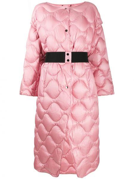 Розовое пальто на пуговицах с перьями с вырезом Dorothee Schumacher