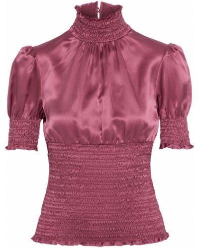 Облегченная розовая шелковая блузка Cinq A Sept