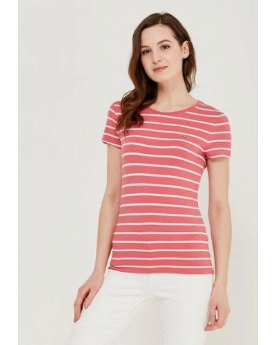 Розовая футболка Lacoste