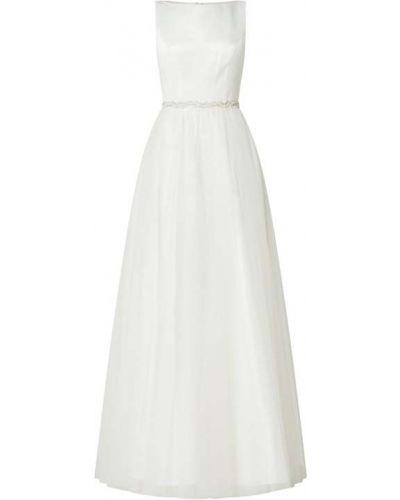 Biała sukienka rozkloszowana tiulowa Mascara