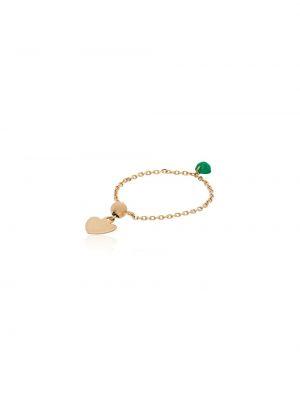Zielony złoty pierścionek szmaragd Persée