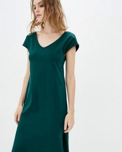 Прямое зеленое платье А-силуэта Promin