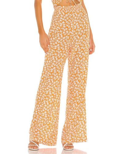 Pomarańczowe majtki w paski z wiskozy Privacy Please