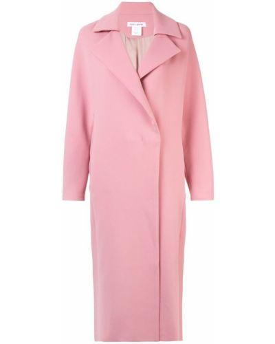 Розовое длинное пальто с капюшоном Bianca Spender